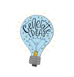 Generate ideas business llustration wit vector