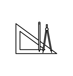 geometry tools icon vector image