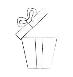 giftbox present open isolated icon vector image