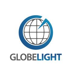 globe light letter g logo concept design template vector image