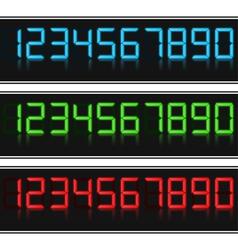 Glowing Digital Numbers vector