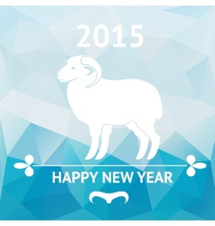 Happy new year 2015 poster with sheep vector image