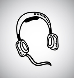 headphones design vector image
