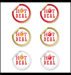 Hot deal stickers vector image