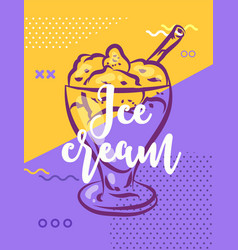 ice cream poster with cool design vector image