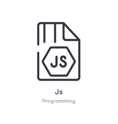 Js outline icon isolated line from programming vector