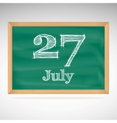July 27 day calendar school board date vector