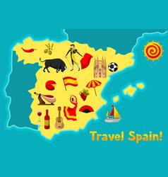 Map of spain background design spanish vector