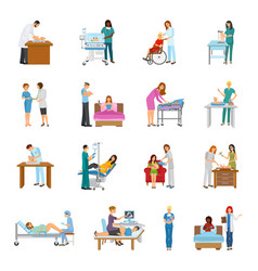 Maternity hospital nursery set vector