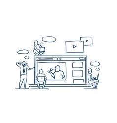 media player online training video webinar concept vector image