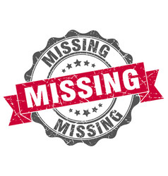 missing stamp sign seal vector image