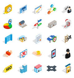 online chat icons set isometric style vector image