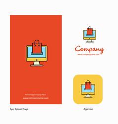 online shopping company logo app icon and splash vector image