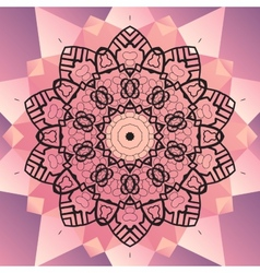 Ornament beautiful mandala chakra flower of pink vector image