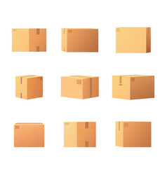 package boxes for things isolated icons set vector image