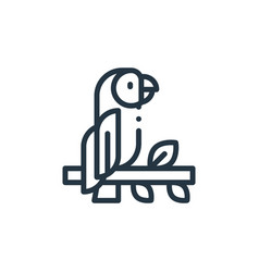 Parrot icon parrot editable stroke parrot linear vector