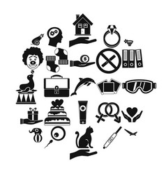 rapture icons set simple style vector image