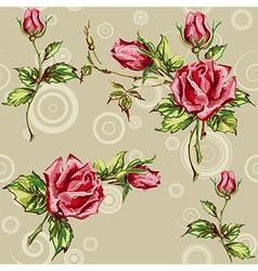 Rose pattern on grey vector