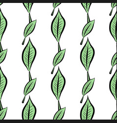 Seamless abstract of leaves conceptual decoration vector