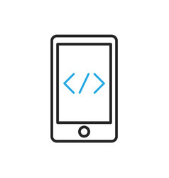 Smartphone icon mobile scripting vector