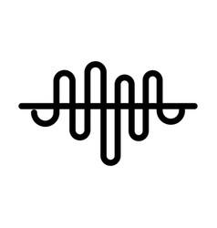sound wave audio line style icon vector image