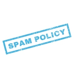 Spam policy rubber stamp vector