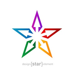 spectrum star Abstract design element on white vector image