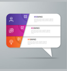 speech bubble shaped infographic design 3 options vector image vector image