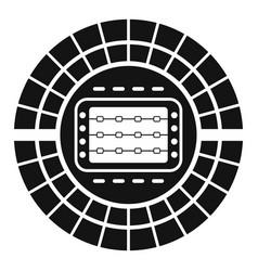 sport stadium icon simple style vector image