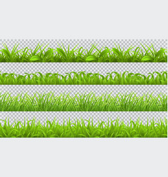 spring green grass seamless pattern 3d realistic vector image