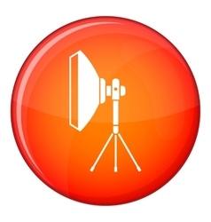 Studio lighting equipment icon flat style vector