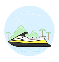 Summer activities and recreation topic vector