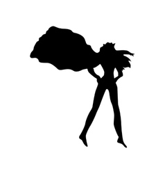 Superhero woman silhouette vector