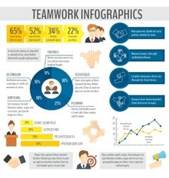 Teamwork business infographic vector