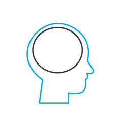thinking process thin line stroke icon vector image