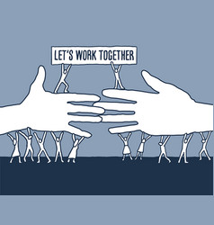 this powerful message unity says lets work toge vector image