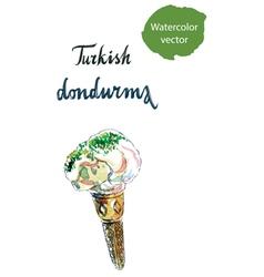 Turkish dondurma vector