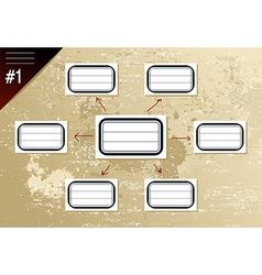 Vintage hierarchy diagram vector image