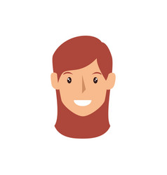 young woman head avatar vector image