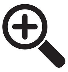zoom symbol vector image