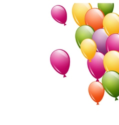 a group of flying balloons vector image