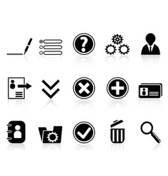 Black internet Account Settings icon vector image vector image