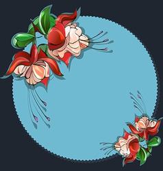 Floral frame fuchsia vector image vector image