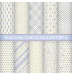 Set of monochrome seamless patterns vector