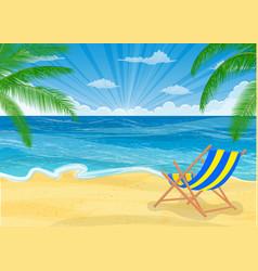 summer beach with a sun vector image