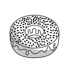 sweet donut delicious isolated icon vector image