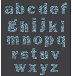 Alphabet of a part of a body vector image vector image