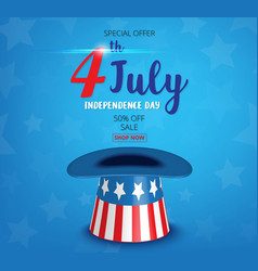 American independence day of 4th july vector