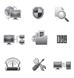 network icon set grey vector image vector image