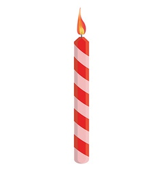 Red birthday candle vector image vector image